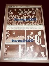 SOCCER ROMA (1) vs PEÑAROL (2) Original clipping ASI magazine 1967 Argentina