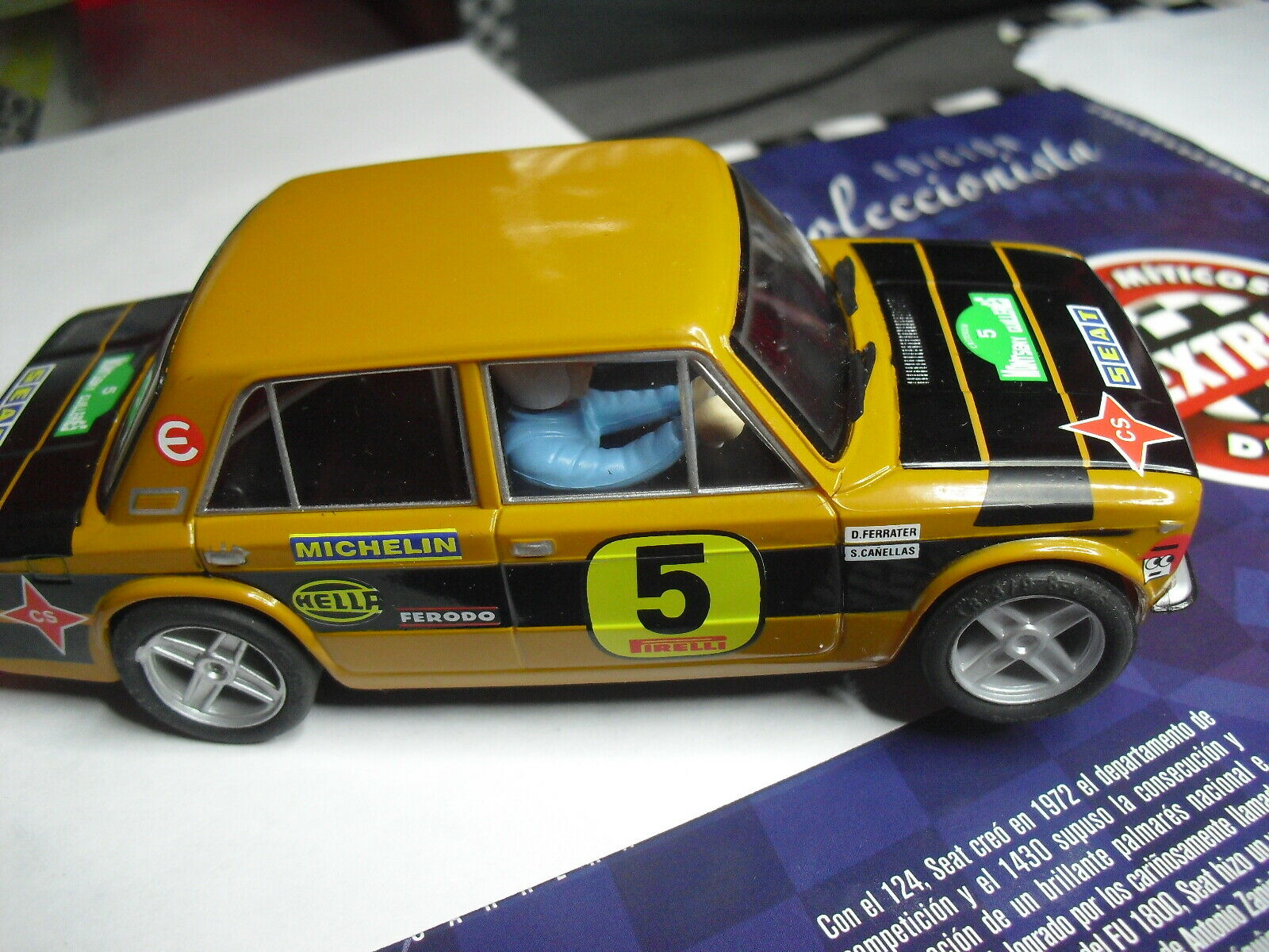 SCALEXTRIC SPAIN PLANET RALLYES MYTHICAL SPAIN SEAT 1430 RALLY