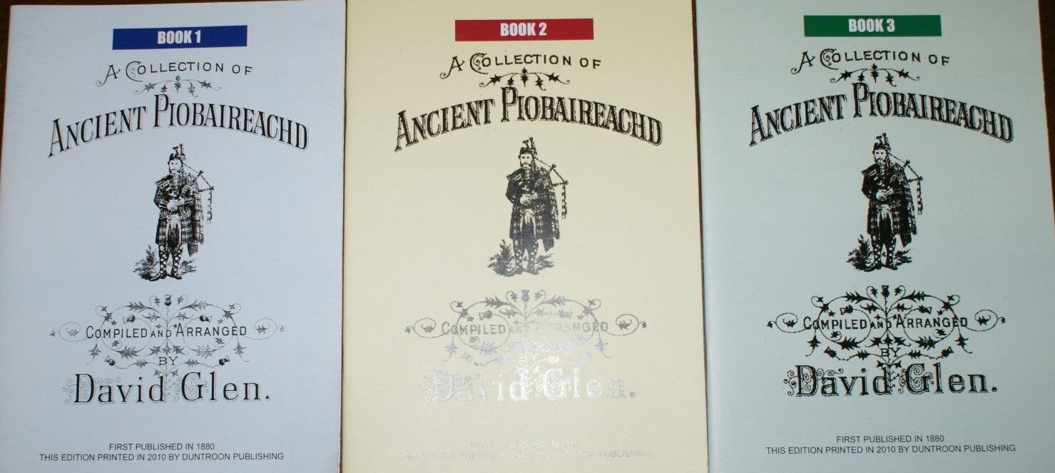 A Collection of Piobaireachd Books by David Glen for the Great Highlan Bagpipes
