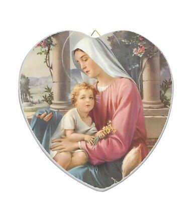Virgin of Guadalupe Religious Catholic Ceramic Tile Murals 12.75 X 17 inches