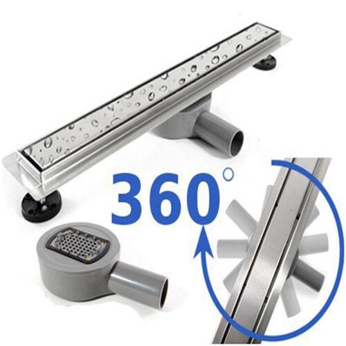 Shower channel Flat Floor Drain-Gutter Hair Sieve geruchsstop Shower Drain Channel 360 ⠁⟳