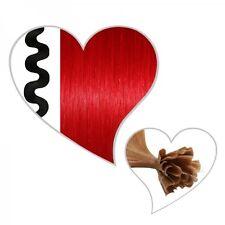 25 ondulado Mechas #rojo,55 cm,Cabello humano Premium Ondulado,roja Extensiones