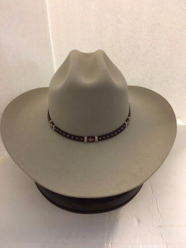 Stetson Cowboy Hat 6X Beaver Fur Silverbelly Monterey T-Free Hat Brush