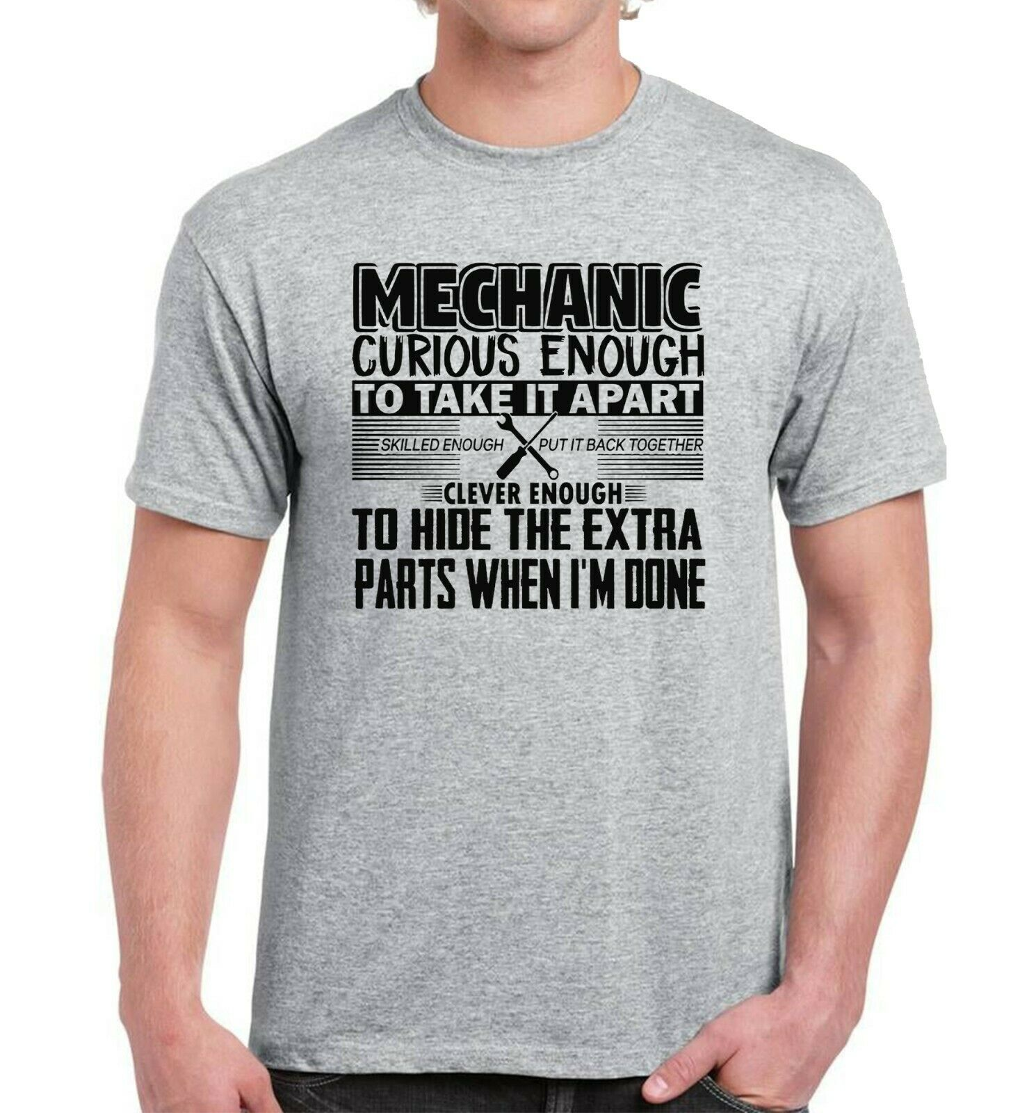 MECHANIC DEFINITION MENS T-SHIRT FUNNY GIFT PRESENT IDEA FOR HIM DAD FATHER NEW