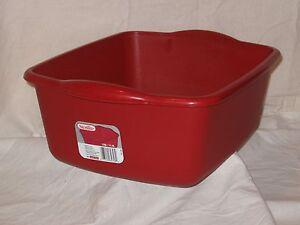 Sterilite-Red-Kitchen-12-Qt-Plastic-Sink-Dish-Pan-Wash-Tub-Laundry