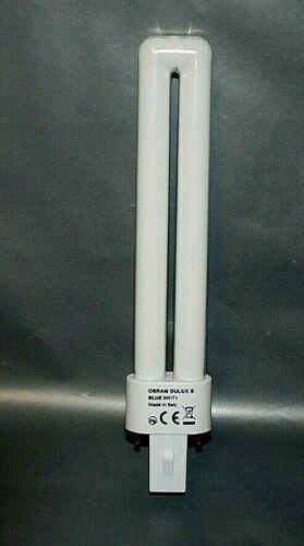 9W//71 G23-4PC-LIVRAISON GRATUITE-A5//5 OSRAM-Dulux S Bleu Ampoules