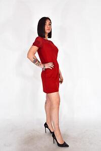 GIANFRANCO-FERRE-039-Vestito-Corto-Rosso-Stile-Casual-TG-it-44-M-Donna-Woman