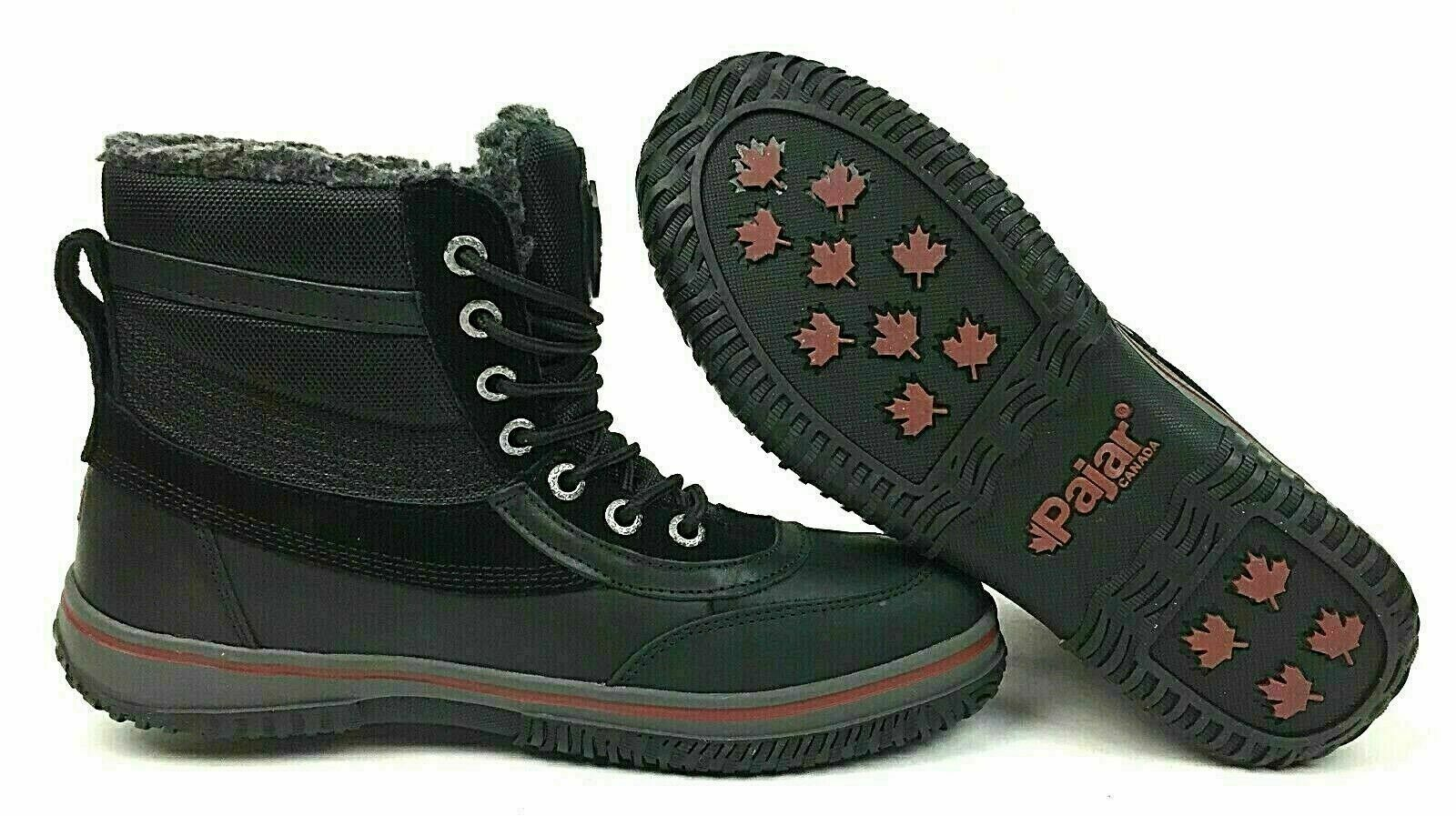 Pajar Men/'s Snowslide Gearson Leather and Nylon Boots ~ Black ~ Pick Size