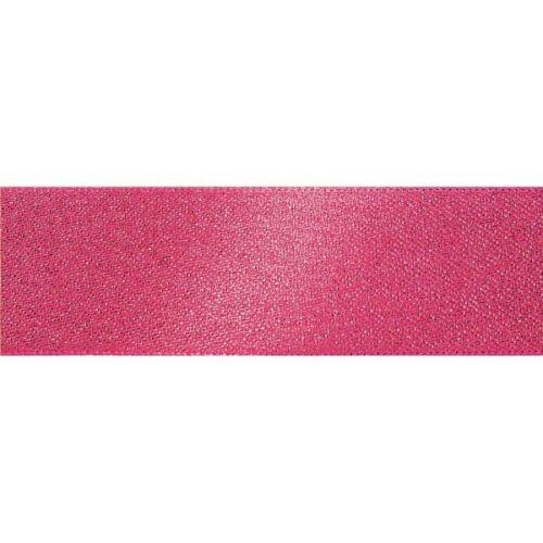 10m Glitter Sparkle Satin Berisfords Essential Ribbon Craft 5m 10mm x 3m