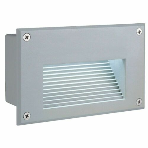 SLV 229701 Brick LED Downunder Wandleuchte rechteckig silbergrau weisse LED