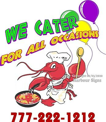 We Love To Cater DECAL Concession Food Truck Vinyl Sticker CHOOSE YOUR SIZE