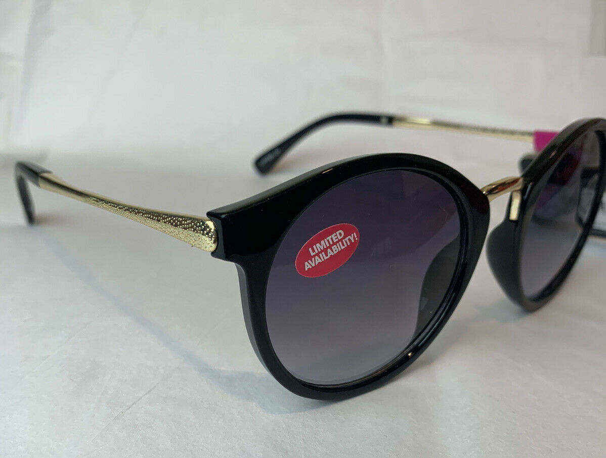 Foster Grant MaxBlock Black/Gold Way Sunglasses 100% UV JS 18 01 Limited