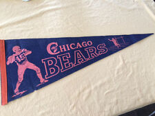 NFL Chicago Bears Football Vintage 1940s 1950s Pennant Very Good Condition