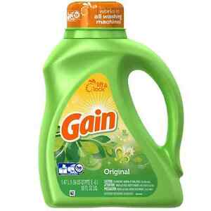 Gain Liquid Laundry Detergent, Original Scent 50 oz (Pack of 4)