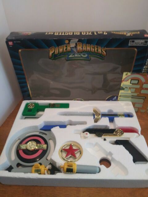 Bandai Power Rangers Zeo 7-IN-1 Blaster Weapon Set Toy Cosplay - Complete In Box