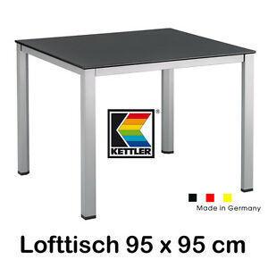 kettler gartentisch 95x95 cm balkontisch dining tisch lofttisch tisch in silber ebay. Black Bedroom Furniture Sets. Home Design Ideas