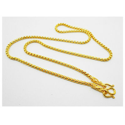 Chain 22K 23K 24K THAI BAHT GOLD GP NECKLACE 24 Inch 30 Grams 3.5 mm Jewelry