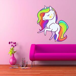 Details about Unicorn Wall Art Sticker Decal Mural Girls Bedroom Unicorns  Vinyl WSDCB26