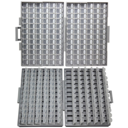 Aidetek 2 X BOX-ALL-144 empty parts box 4 assorted smd parts Organizer lid label