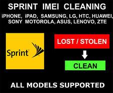 Sprint SPCS IMEI ESN Cleaning Unbarring Unpaid Bills Lost
