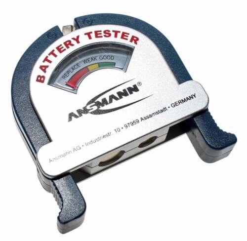 Akkutestgerät 1,2V 1,5V 3V 9V Ansmann Batterietester AN20602 Batterie u