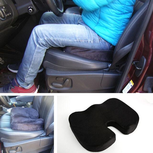 Black Memory Foam Car Seat Cushion Driver Back Pain Sciatica Relief
