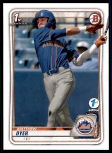 2020-Bowman-Draft-1st-Edition-Base-BD-92-Matthew-Dyer-New-York-Mets