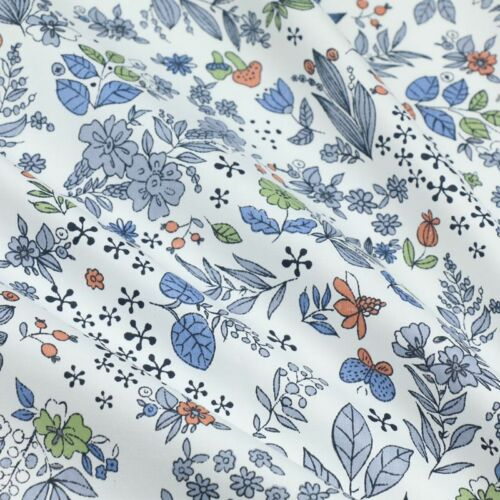 50cm*160CM Fasion Flower 100/%cotton fabric Quilting Clothes Bedding Sewing 82