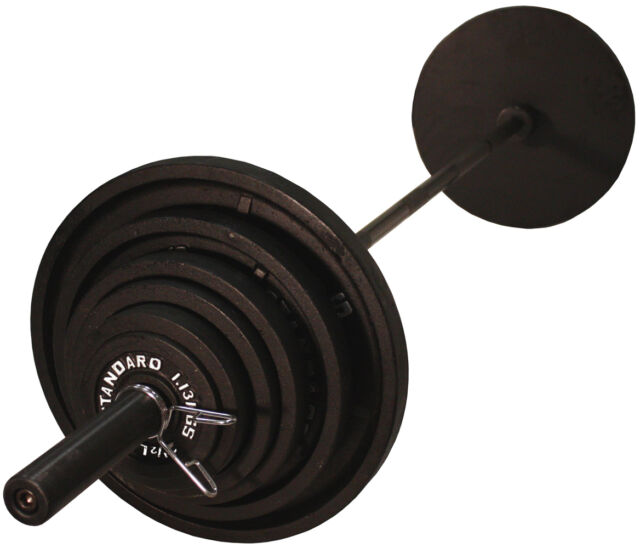 Troy Usa Sports Boss 300b Olympic Weight Set With Black Gob 86 Bar
