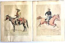 SET OF 2 REMINGTON PRINTS A CAVALRY OFFICER / A TRAPPER - DR. HAROLD McCRACKEN
