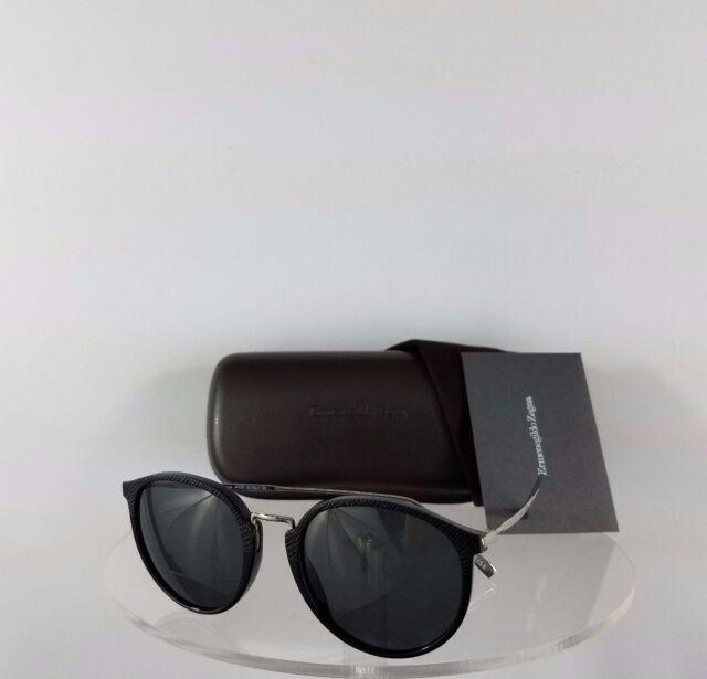 dbb37ca234 Brand New Authentic Ermenegildo Zegna Sunglasses EZ 0048 01A 51mm Silver  Black