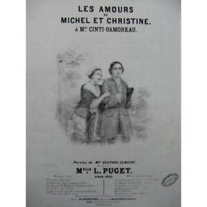 Puget Verbissen Die Amours Mason Und Christine Chant Piano 1844 Partitur Noten & Songbooks blatt