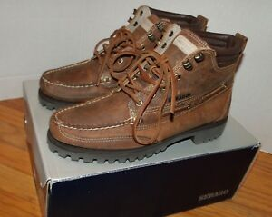 RARE-2014-Men-s-Sebago-Gibraltar-Handsewn-Rustic-Leather-Ankle-Boots-Size-8