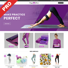 Yoga Store Premium Dropshipping Website Business Start Selling In Minutes