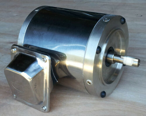 Gator Stainless Steel AC Motor 3//4 HP 1800RPM On Sale!! 3 Phase TENV 56C