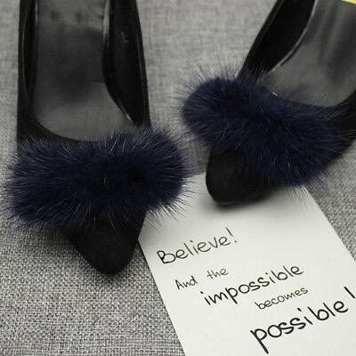 black fluffy pom pom shoes