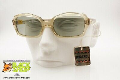 Mirasol Authentic 1950s-1960s Vintage Sunglasses, Clear Acetate & Glass Lenses