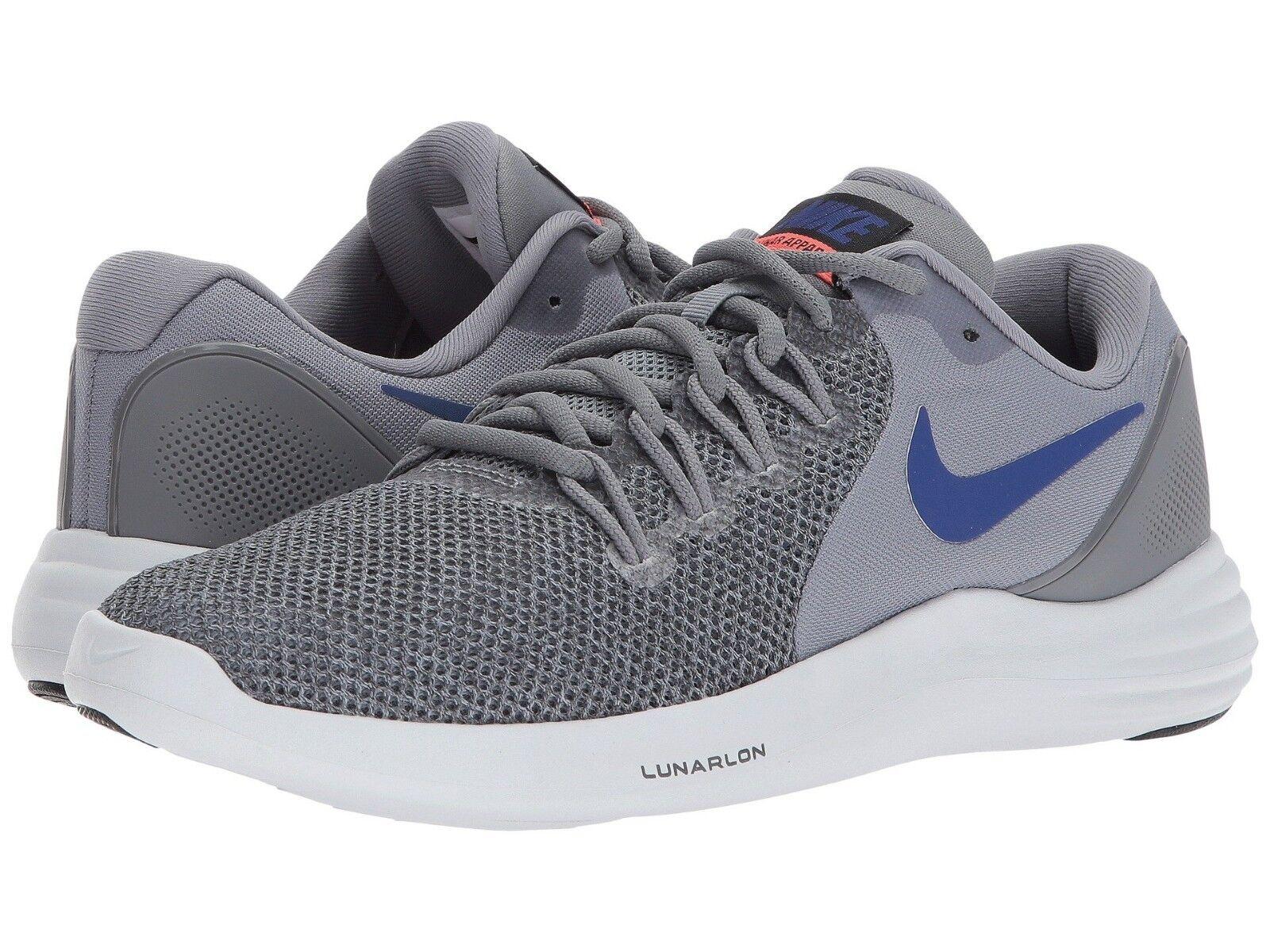 Men's Nike Sizes Lunar Apparent Running Shoes, 908987 005 Multi Sizes Nike Cool Grey/R Blue 489d2c