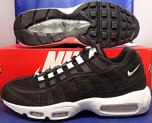 low priced 7ff22 1ccaf Image is loading Nike-Air-Max-95-iD-Black-White-SZ-