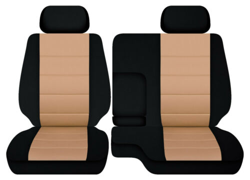 Cotton blend car seat covers fits 95-00Toyota Tacoma Front bench 60-40 seats+2HR