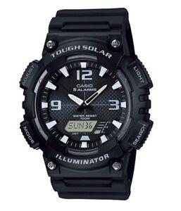 Casio Watch * AQS810W-1AV Tough Solar Illuminator Black Resin COD PayPal