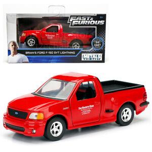 Jada-Rapido-y-Furioso-1-32-Diecast-Ford-F-150-Svt-Lightning-de-Brian-039-s-Rojo-Coche-Modelo