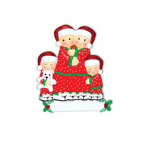 Pajama Family of 2 3 4 5 6 Personalized  Christmas Ornament