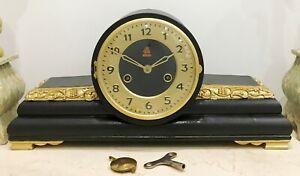 RESTORED-Original-15-Day-Vintage-Mantel-Clock-1532