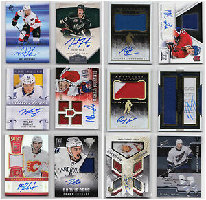 Auto-Autograph-Jersey-RC-Rookie-Numbered-Cards-Choose-From-List-NHL-Hockey