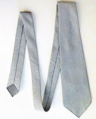 1970s Cravatta Vintage Grigio E Bianco Terilene Classico Da Uomo Wear Ottime Condizioni-mostra Il Titolo Originale