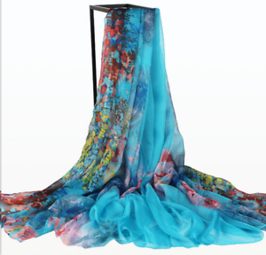 New-Fashion-Women-Ladies-Chiffon-Floral-Scarf-Soft-Wrap-Long-Shawl-2