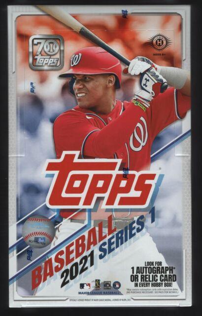 IN STOCK 2021 Topps Series 1 Baseball Sealed Hobby Box 24 Packs + 1 Silver Pack