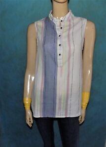 48e8a0c6030 chemise femme col mao ARMANI jeans en coton taille 42 fr tbe