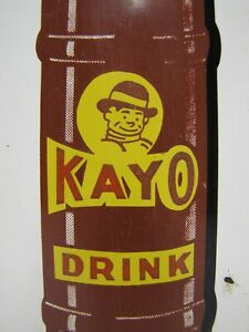 KAYO-CHOCOLATE-DRINK-OLD-ADVERTISING-THERMOMETER-SIGN-DONASCO-SODA-DRINK